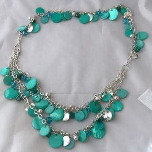 Jewelry - Shell Coin Bead Multi Strand Necklace